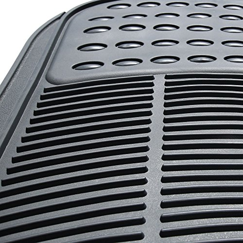 FH GROUP F11306-3ROW Quality All Weather Rubber Auto Floor Mats Liner - Gray by FH Group (Image #3)
