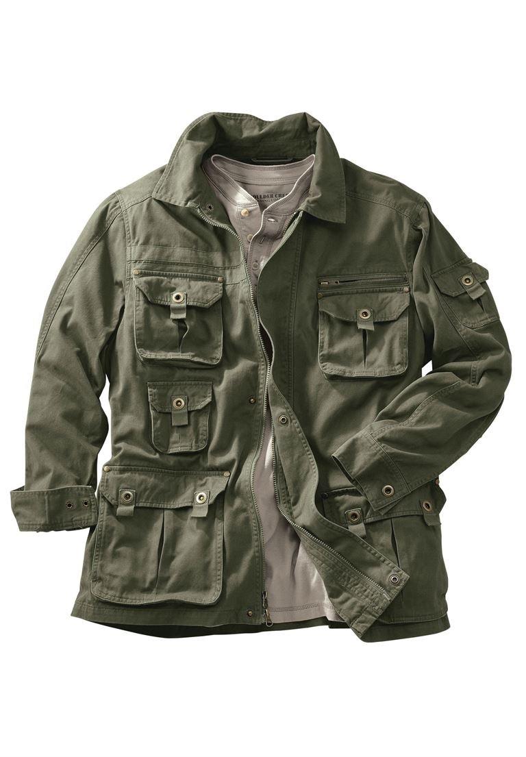 Boulder Creek Men's Big & Tall Multi-Pocket Jacket, Olive Big-3Xl by Boulder Creek
