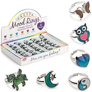 Anello d'atmosfera per bambini – Mood Ring for Kids – distribuito da ABAV colore: cuore cod.