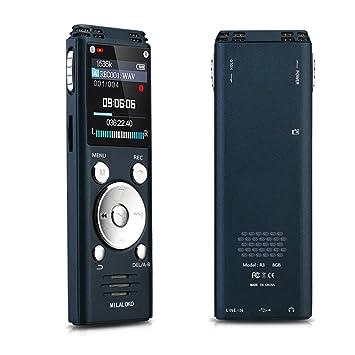 milaloko sonido activado grabadora de voz digital de 8 GB ...