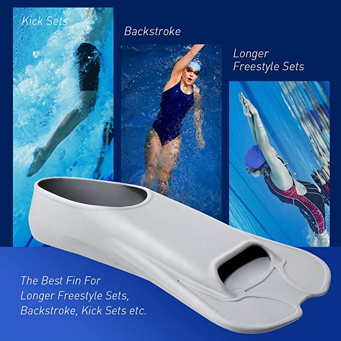 Swimz Aletas cortas de silicona para entrenamiento de nataci/ón