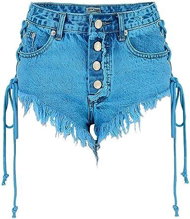 Pantalones Cortos Para Mujer Pantalones Vaqueros Pantalones Cortos De Mode De Marca Moda Pantalones Vaqueros Para Mujer Pantalones De Verano Elegantes Para Ninas Pantalon De Verano Con Flecos De Amazon Es Ropa Y