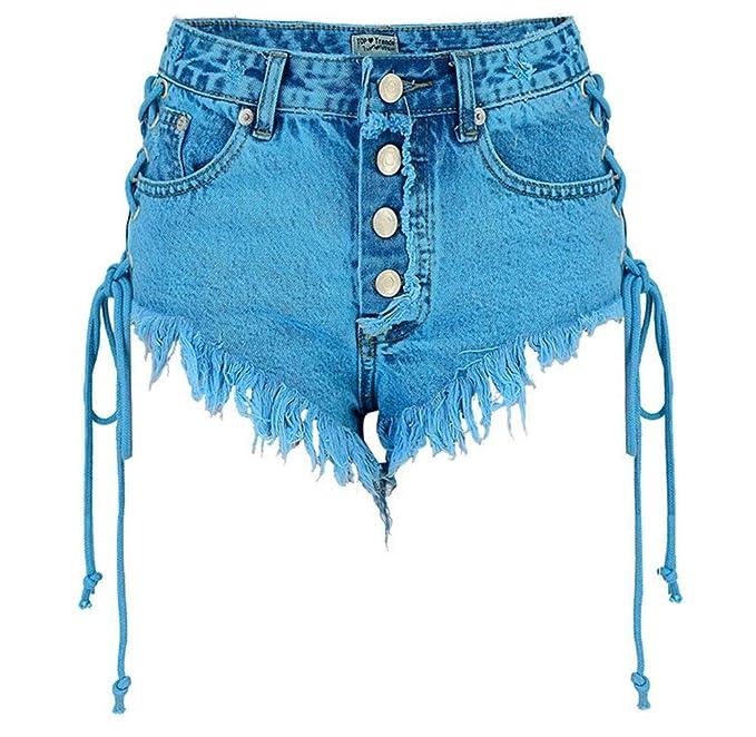 Pantalones Cortos para Mujer Pantalones Vaqueros Pantalones ...