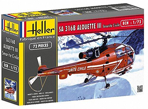 Heller Alouette III Helicopter Model Building Kit
