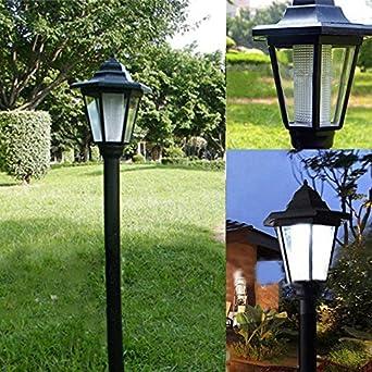 Luces Solares Jardín LED, Warmpty Lámpara Iluminación exterior decoración Para Patio,Césped,Camino,paisaje Pasillo,Instalación Fácil Sin Cables: Amazon.es: Iluminación