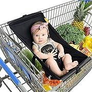 Leoie Baby Shopping Cart Hammock, Portable Baby Hammock For Crib Absolutely Safety Nursery Bed Travel Baby Hammocks (Black)