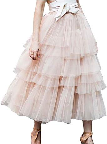 Beauty Go Femme A Ligne Jupe Princesse Long Jupe Tutu Tulle Petticoat Jupon Été