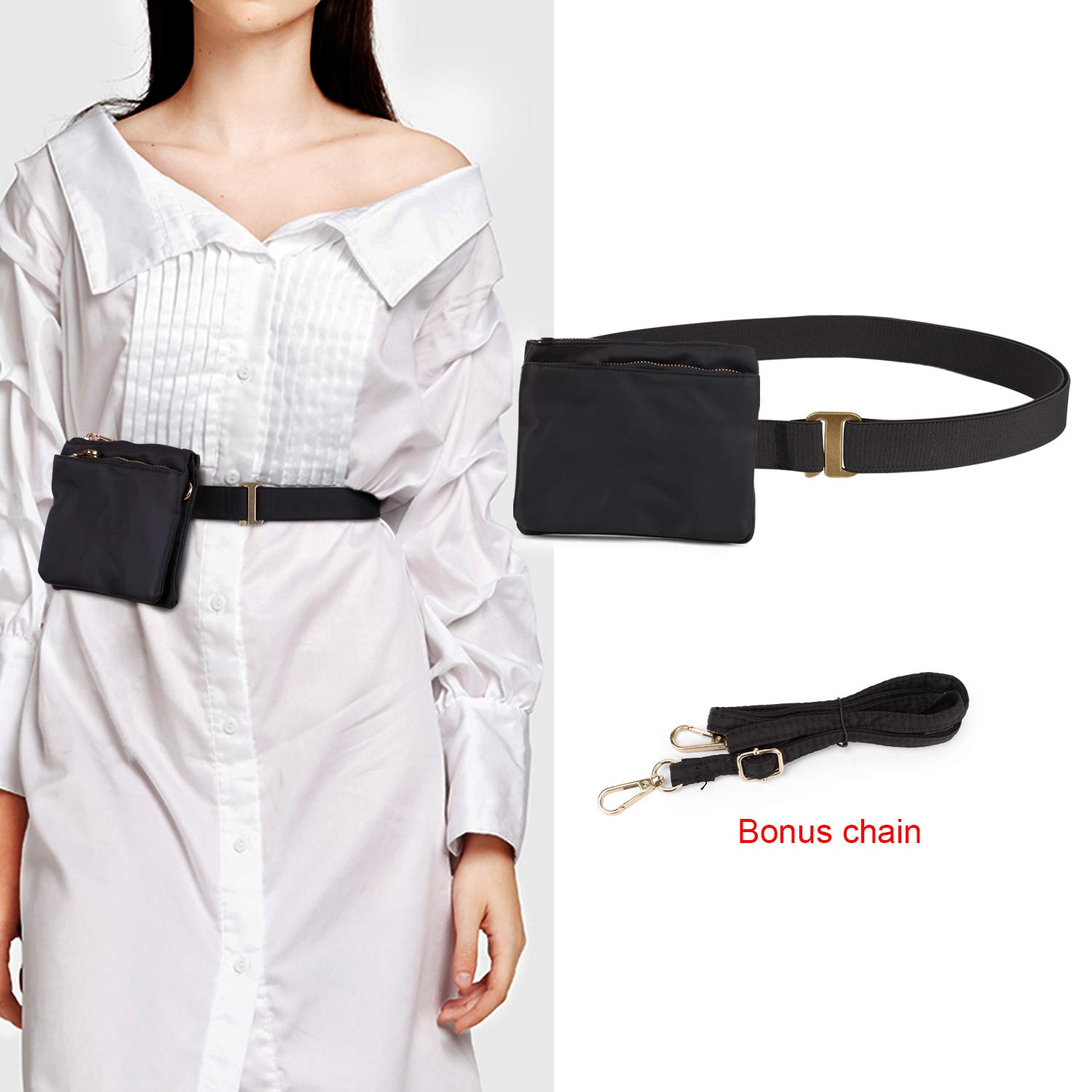 06b66433f1 No Show Women Stretch Belt Invisible Elastic Web Strap Belt with Flat Buckle  for Jeans Pants Dresses