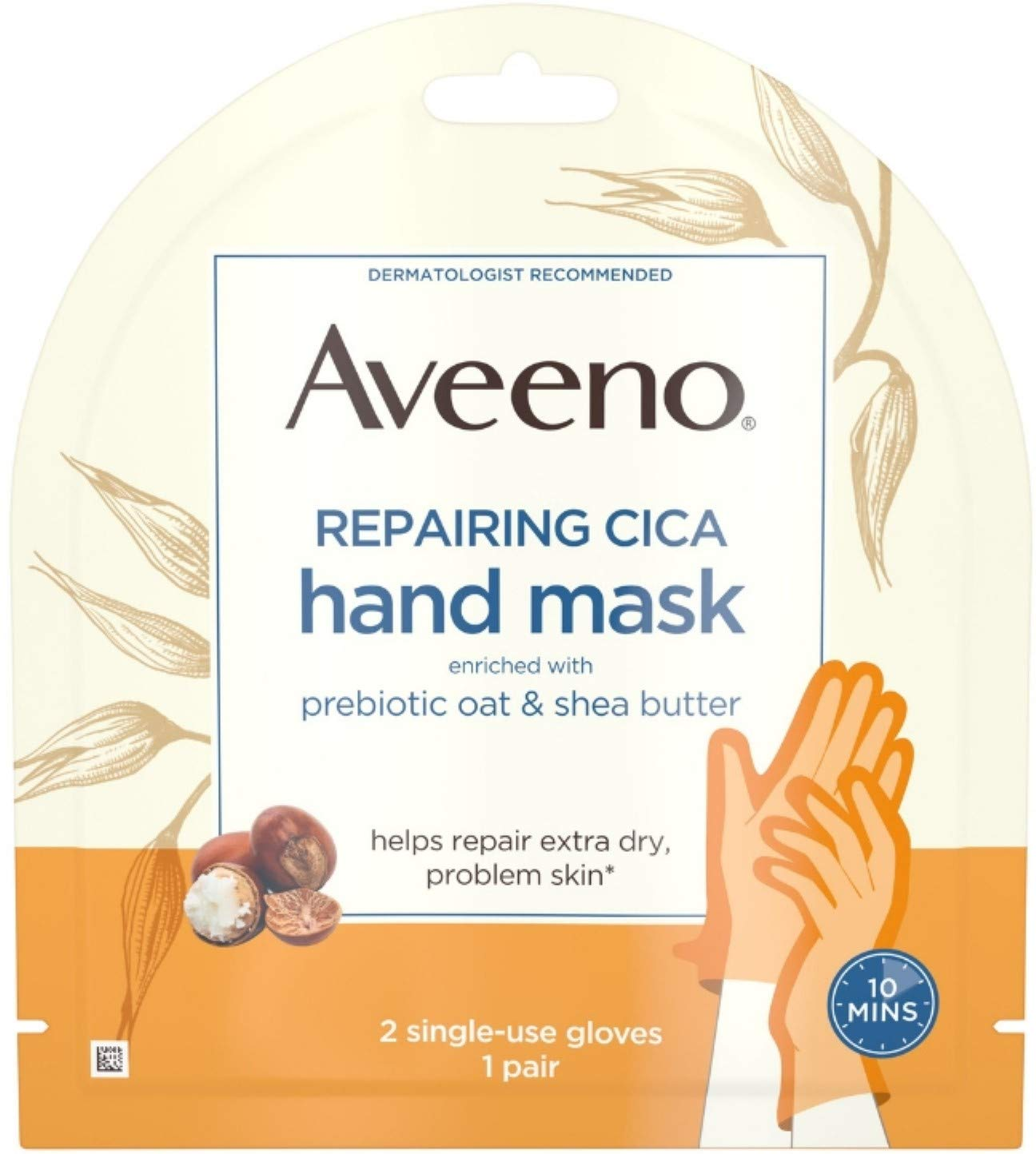 Amazon Aveeno Repairing Cica Hand Mask With Prebiotic Oat And