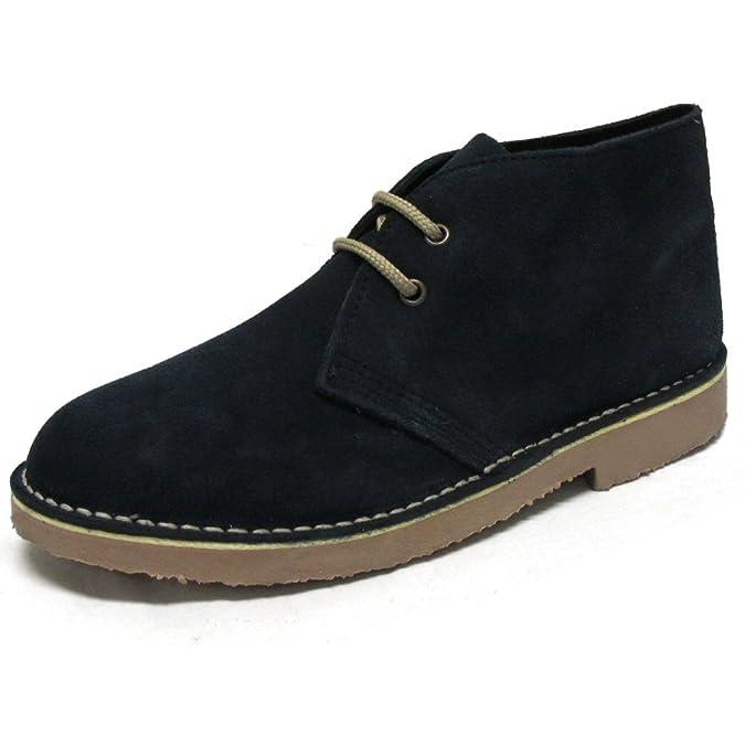 Roamers - Desert-Boots - Veloursleder - klassisch - Dunkelblau