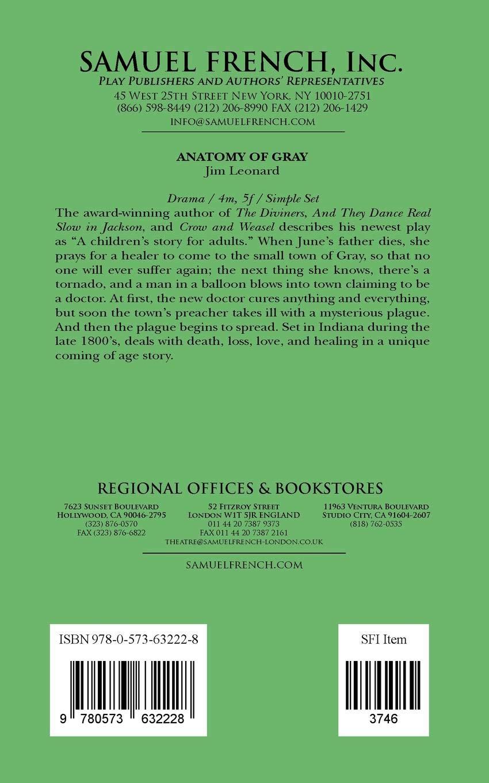 Anatomy of Gray: Jim Jr Leonard: 9780573632228: Books - Amazon.ca