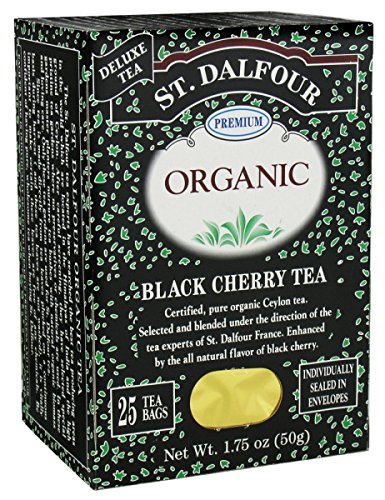 St. Dalfour Organic Tea, Black Cherry, 25 ct