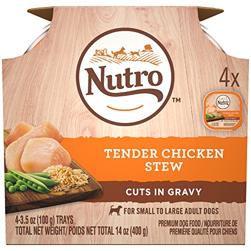 Nutro Wet Dog Food Multipack?Tender Chicken Stew, 3.5 Ounce Trays (12-Pack)