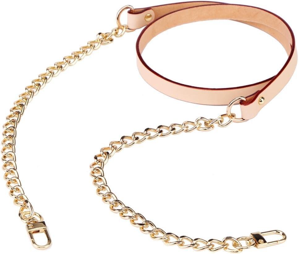 Black Purse Shoulder Strap,Bag Purse Accessories Leather Metal Replacement Shoulder Strap Handbag Handle