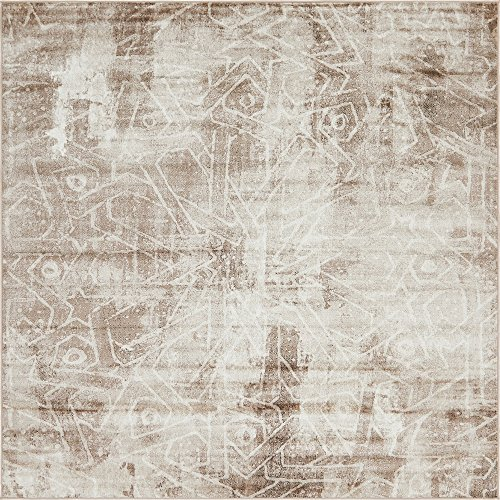 Unique Loom Sofia Collection Traditional Vintage Dark Beige Square Rug (8′ x 8′) Review