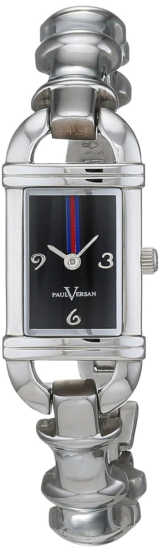 Paul Versan Reloj Análogo clásico para Mujer de Cuarzo con Correa en Acero Inoxidable PV4060: Amazon.es: Relojes