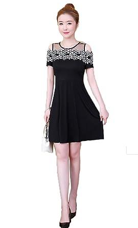Tiadi der Kleines schwarzes Kleid Näht Retro- trägerloser Langer ...