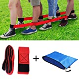 Durable 4 Legged Race Bands Outdoor Game for Kids Adults Relay Race Carnival Field Day Backyard Birthday Team Party Games