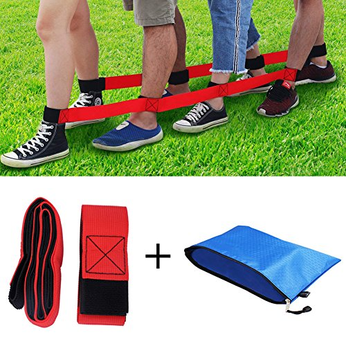 Durable 4 Legged Race Bands Outdoor Game for Kids Adults Relay Race Carnival Field Day Backyard Birthday Team Party Games by Focushow