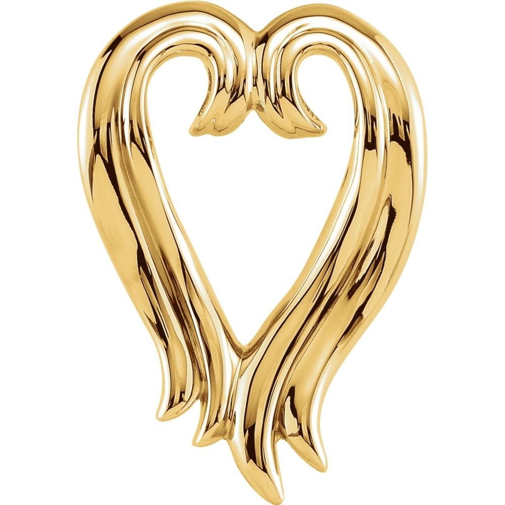 Bonyak Jewelry Sterling Silver Heart Shape Pendant Enhancer by Bonyak Jewelry