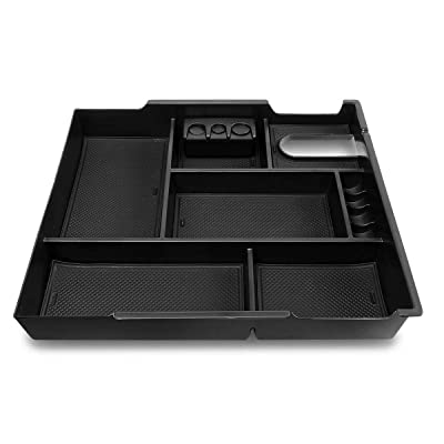 DNA MOTORING ZTL-Y-0019 Center Console Armrest Organizer Tray [for 14-19 Tundra], Black: Automotive