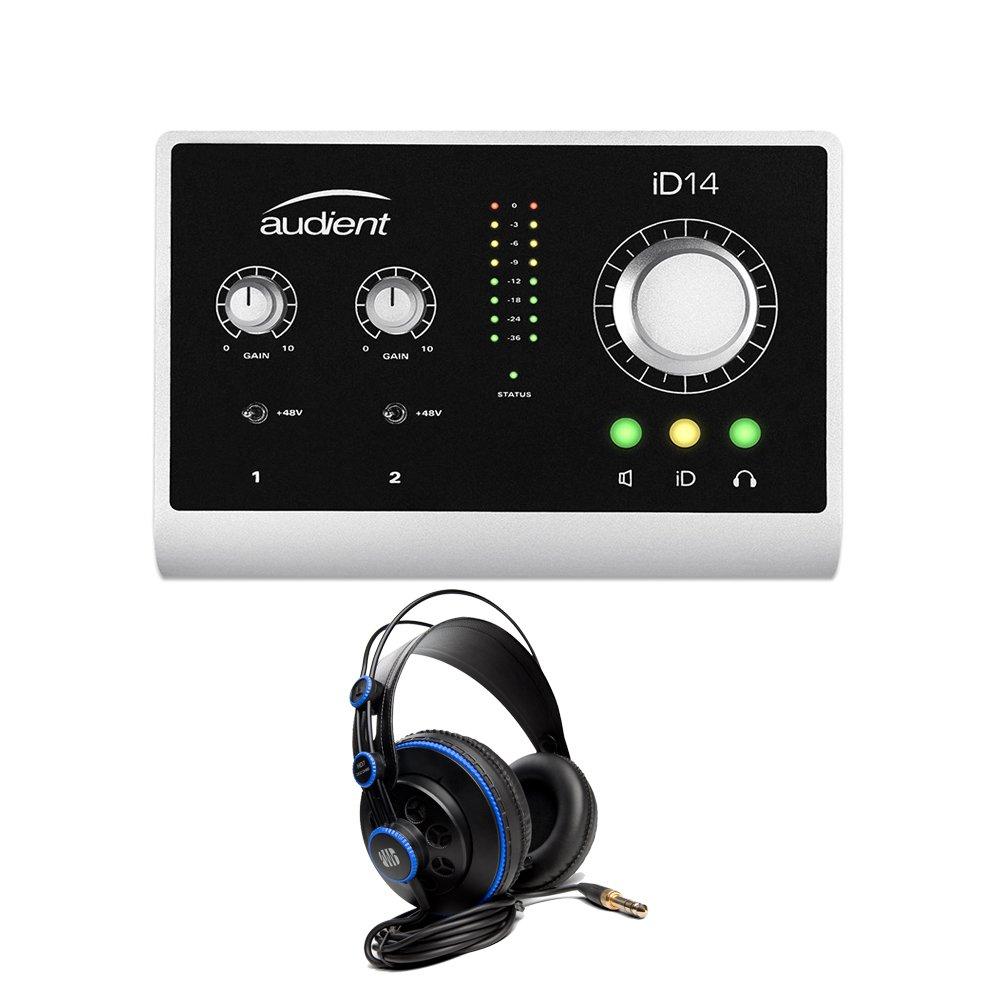 Audient ID14 High Performance USB Desktop Audio Interface with PreSonus HD7 Studio Headphones