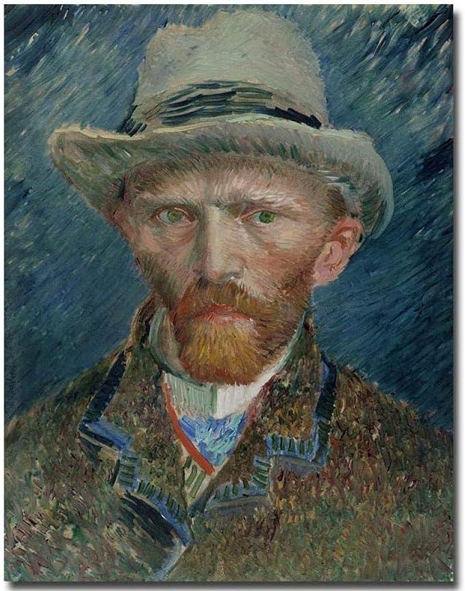 Adouftwo Vincent Van Gogh Autorretrato Pintura Al Óleo Pintura ...