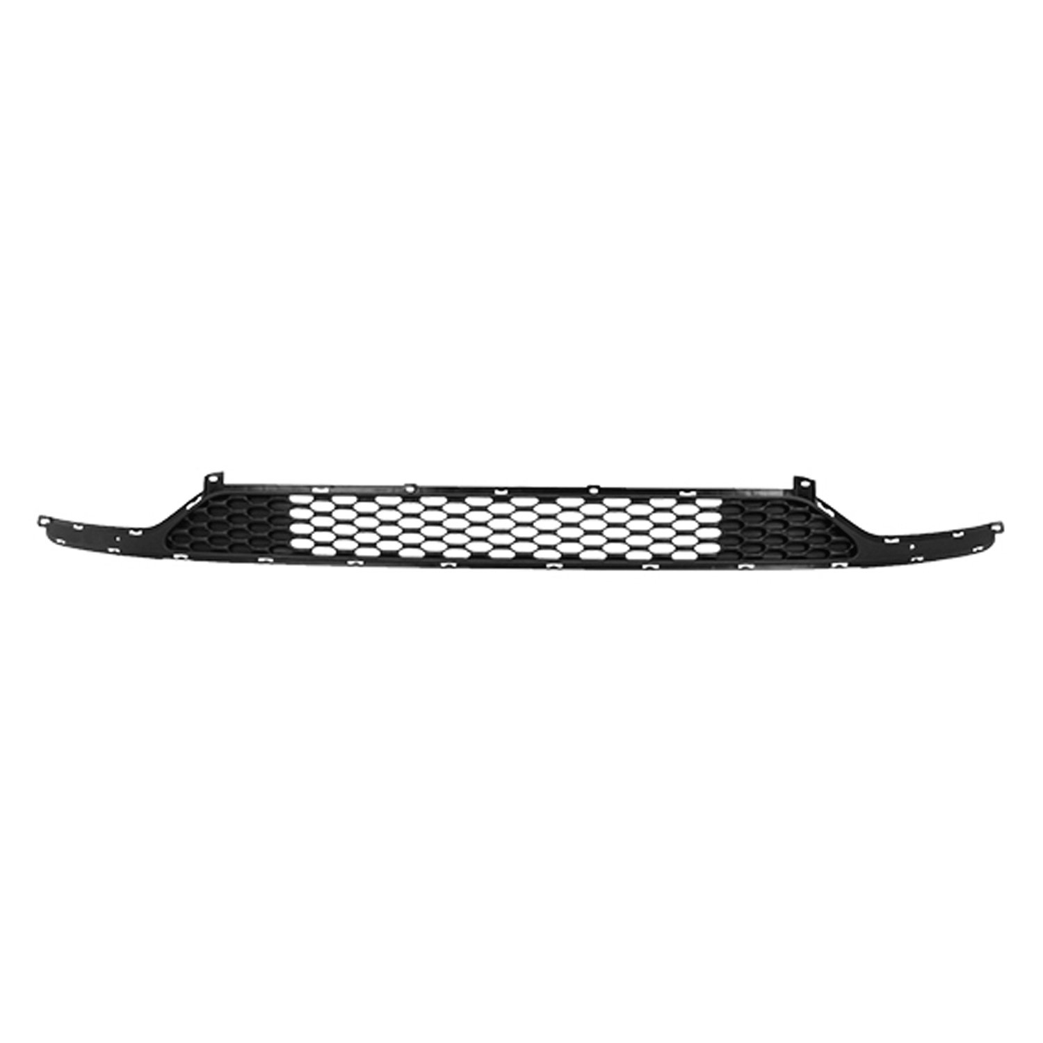 MAXMATE Fits 2014-2015 Chevy Silverado 1500 Tow Hook Covered Bolton Lower Bumper 1PC Horizontal Billet Polished Grille Grill Insert