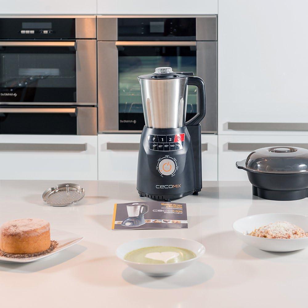 Robot de cocina multifunción que cocina y tritura. 2,8 litros, Temperatura 120ºC, 3 velocidades, y temporizador hasta 60 minutos. Diseño mejorado. Cecomix Compact Pro de Cecotec. (Cecomix Compact Pro): Amazon.es: Hogar