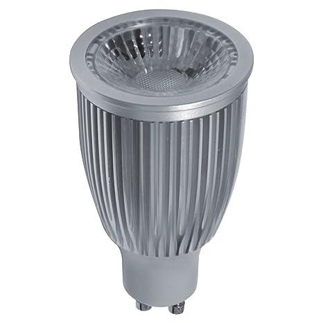 Bombilla LED Par 16 GU10 7W 60º 3000K Antireflejos Regulable, d50 h87