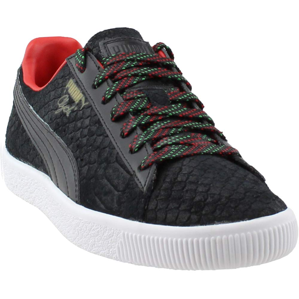 Puma Clyde Gcc Mens rot Leather Lace Up Turnschuhe schuhe 10.5