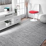 nuLOOM Hand Woven Ago Wool Area Rug, 4' x 6', Grey