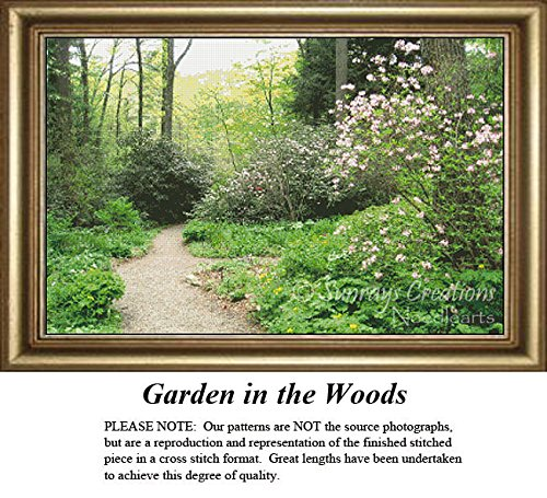 Sunrays Creations Landscape Cross Stitch Pattern | Garden in