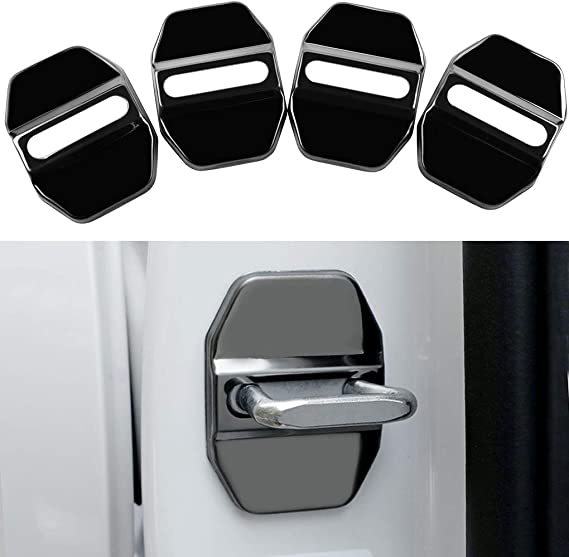 4Pcs Stainless Steel Car Door Lock Latches Cover Protector for Mercedes GLK-Class S-Class Maybach Class AMG