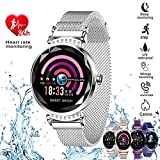 H2 Smart Watch Blood Pressure Heart Rate Monitor Sport Waterproof Bracelet New Fitness Tracker (Silver)