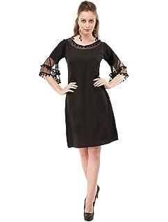 56de556a9cc Indian Women s Short Dress Summer Wear Casual Black Wrap Stylish Dress S-5XL