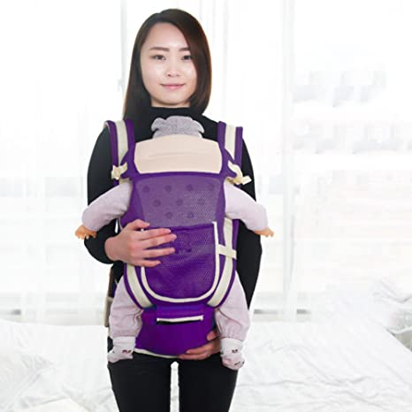 Mochila portabebé,Ergonómico Taburete de cintura Multifunción Mochila fular ergonómica Frente-hold Portabebes Completo