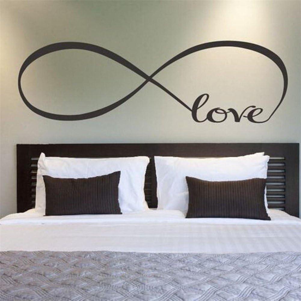 GenialES® 58 * 150cm Símbolo Infinito Palabra Love Pegatina de Pared DIY Vinilo Decorativo Adhesivo PVC para Dormitorio
