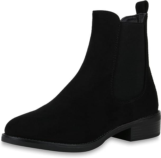 6e21397988746f SCARPE VITA Damen Stiefeletten Chelsea Boots Leicht Gefütterte Booties  Schuhe 168486 Schwarz 36  Amazon.de  Schuhe   Handtaschen