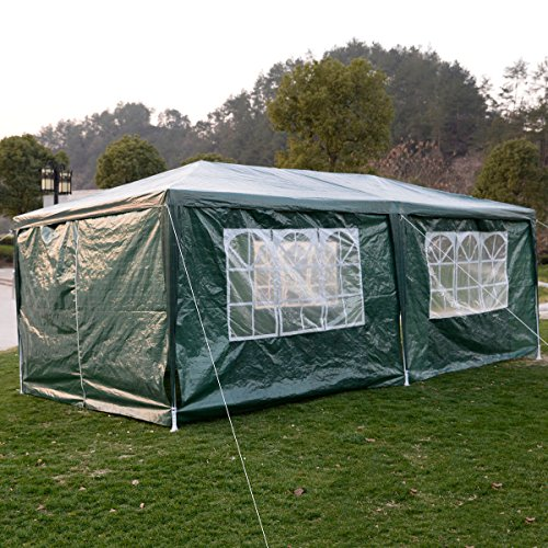 New 10'x20' Canopy Outdoor Party Wedding Tent Heavy duty Gazebo Pavilion Cater Events Green (Outdoor Furniture Settings Brisbane)