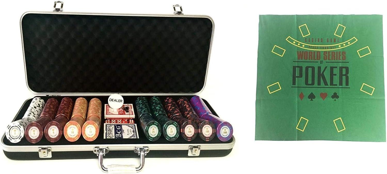 Pokerproductos Maletín 500 fichas Montecarlo con tapete Regalo