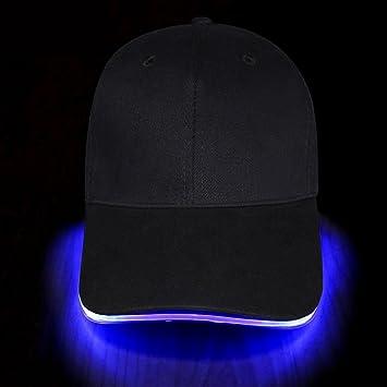 Fashion&Cool Gorra Luminosa LED para Deportes, Fiestas, Accesorio ...