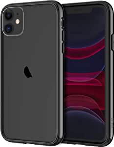 JETech Case for iPhone 11 (2019) 6.1-Inch, Shock-Absorption Bumper Cover, Anti-Scratch Clear Back, Black