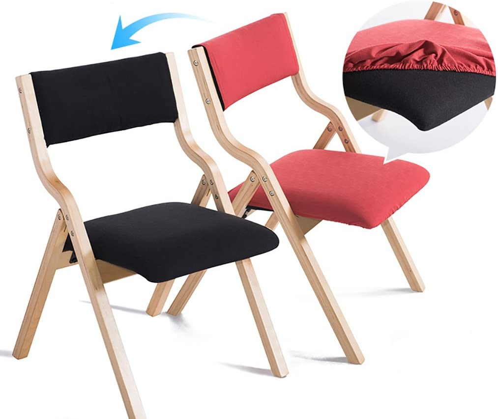 HXH chair Presidente Moderno hogar Silla Plegable Plegable de Madera Maciza Creativo nórdico Adulto Respaldo dinette/Escritorio y Silla (Tamaño: 78.5cm de Alto) (Color : F) C