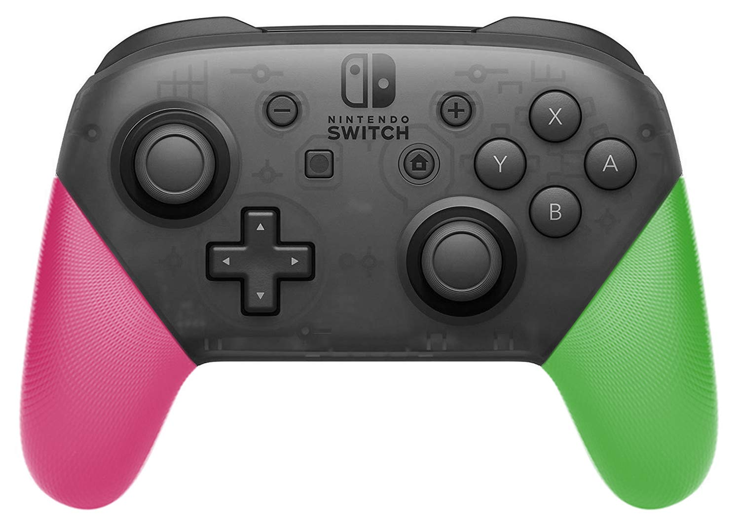 Anti-Slip Grip Shell for Switch Pro Controller, DIY Delicate and Textured Replacement Grip Handles Cover Shell for Nintendo Switch Pro Controller (Pink & Green) by MENEEA