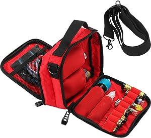 HUIZHU Empty Multi-Functional case Vape Carrying case Shoulder Bag (Red)