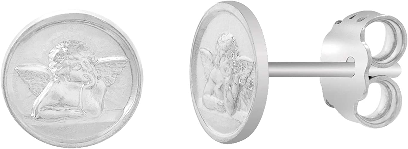 Various Sizes MY BIBLE Miraculous Stud Earrings for Women in 925 Sterling Silver