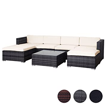 Amazon.de: SVITA Lugano Poly Rattan Lounge Garten-Set XXL Sofa-Set ...