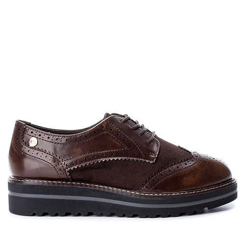 Xti 047336 Zapato De Mujer 047336 Sintético Mujer Marrón 39: Amazon.es: Zapatos y complementos