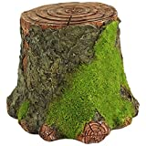 Top Collection Miniature Fairy Garden and Terrarium Decorative Mossy Tree Stump Display Riser